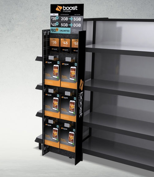 boost mobile power wing display from bay cities