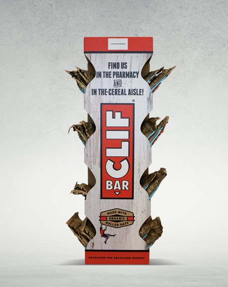 clif bar power wing display from bay cities